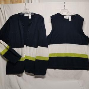 2 piece Liz Sport Sweater set